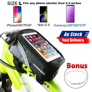 AU Bicycle Phone Bag Cycling Bike Front Top Frame Pannier Tube Bag Case Pouch