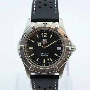 Fantastic Tag Heuer 2000 38mm Stainless Steel Black Quartz Watch *WE ARE A SHOP*