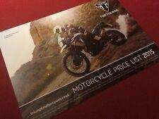Triumph Motorcycles Price List 2015 Daytona Street Speed Tiger Sprint Bonneville