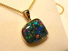 "Opal Pendant 14ct Yellow Gold 17x15mm Free Form ""Gem Grade"" Triplet. item 070234"