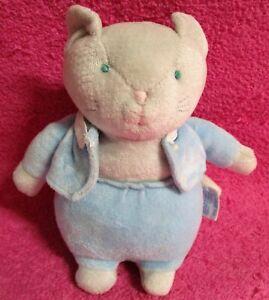 """Vintage Eden Frederick Warne Tom Cat Kitty Kitten Blue Suit Plush 8"""""""