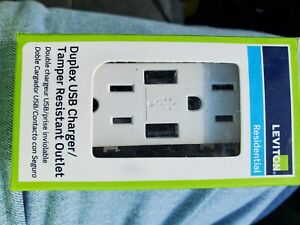 Leviton T5632-W 15-Amp USB Charger/Tamper Resistant Duplex Receptacle lot of 12