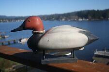 Duck decoy, Canvasback Drake, Herter's Inc., original paint, plastic.