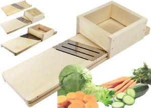Krauthobel Sauerkrauthobel Gemüse Holz mit 3 rostfreien scharfen Messern L-XXL