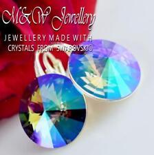 925 SILVER EARRINGS RIVOLI PARADISE SHINE 14MM - Crystals from Swarovski®