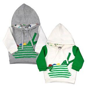 Baby Pullover mit Kapuze Jacke Jungen Jacket Kaputzenpulli Hoddie Krokodil warm