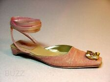 Debutante Elegant Pink Slide Silver Accent Silk Rose Stone Just the Right Shoe