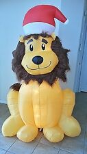 Christmas Airblown Inflatable 6 Ft. Lighted Lion Fuzzy Mane New