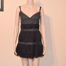 Stylish authentic D&G Dolce & Gabbana gray & black silk mini dress Sz IT44/ US 8
