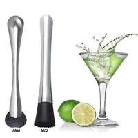 Stainless Steel Muddler Cocktail Mojito Bar Barware Drink Mixer Mixing Tool