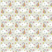 Printed Bow Fabric A4 Canvas Unicorns Stars Clouds U7 glitter hair crafts