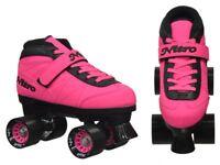 Epic Nitro Turbo Pink Quad Speed Skates  -Size 8