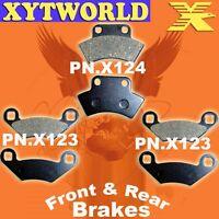 FRONT REAR Brake Pads POLARIS ATV 350 Trail Boss L 2 x 4 4 x 4 1991 1992 1993