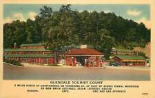 Linen Roadside Postcard Glendale Tourist Court & Gas Station, Chattanooga, TN