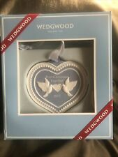 Wedgwood Blue Heart Christmas Ornament First Christmas Together 2017 Nrfb