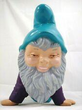 Gnome Looks STONED! Ceramic Stoner Crawling Gnome ~ Alberta Mold 590