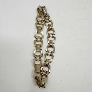 Gold Choker Chain Link Necklace Contemporary