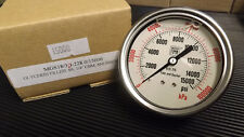 "Nuova Fima Glycerin Filled Pressure Guage 0-15,000 PSI 1/4"" NEW Stainless Steel"