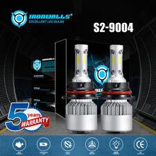 9004 HB1 LED Headlight Bulbs High Low Beam For Ford F-350 F-250 F-150 1987-1991