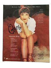 **GLORIA ESTEFAN BILLBOARD PROMOTIONAL PRINT ADVERT 1992**