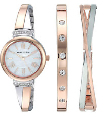 af1f5cf94e9 Anne Klein Women s AK 2245RTST Crystal Accented Rose Gold-Tone   SilverTone  Bang