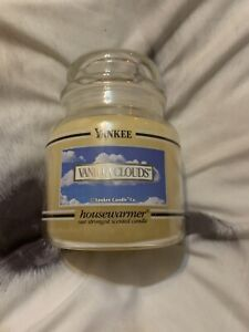 Yankee Deerfield Black band vanilla clouds Jar Rare Medium jar. RARE