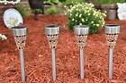 6 Piece Set of Outdoor Stainless Steel Solar Garden, Landscape / Pathway Lights