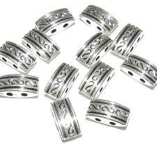 MBL7127L2 2-Strand Rectangle Spacer Bar Silver Zinc Alloy Metal Beads 100/pkg