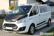 To Fit 13+ Ford Transit Tourneo Custom LWB Polished Aluminium Side Running Board