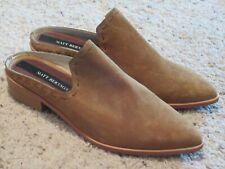 Matt Bernson Womens Inspo Low Heel Suede Mule Shoes Brown 8.5