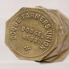 Dodge, Nebraska, FARMERS UNION : 25¢ IN MECHANDISE