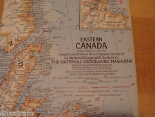 National Geographic Society Map 1967 Eastern Canada