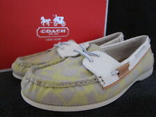 COACH A0424 Coralin Signature Sprout Flats Slip On Moc Boat Shoes US 8.5 M NWB
