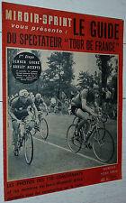 MIROIR SPRINT GUIDE CYCLISME TOUR FRANCE 1953 PHOTOS BOBET KOBLET BARTALI CLOSE