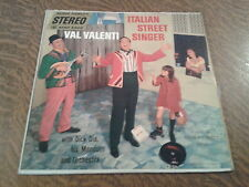 33 tours val valenti tenor & orchestre italian street singer