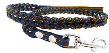 "Fully Braided Genuine Leather Dog Leash 46"" long 3/4"" wide"