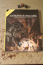 Exhumed Obscura supplement for OSRIC, 1st, & 2nd edition Dungeons & Dragons
