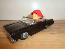 VINTAGE JAPAN LINEMAR Co. Inc. TIN & LITHO '60 FORD BLACK CONVERTIBLE