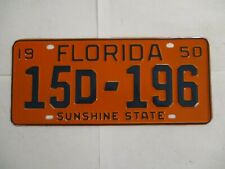 1950 Florida License Plate Tag Show Car Ready Manatee Co