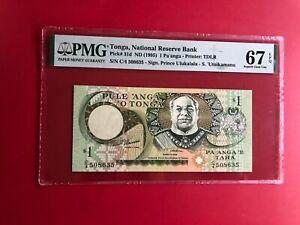 1995 Tonga 1 Pa'Anga PMG 67 EPQ Gem Hors-Circulation Haut Grade
