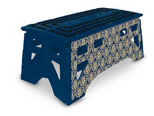 eXpace 20 Inch Wide Heavy Duty Portable Folding Step Stool, Blue Damask