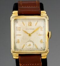 Waltham 17 Jewel Yellow Gold Filled Square Case Stepped Lugs Watch CA1947