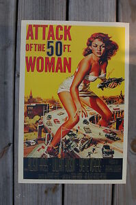 Attack of the 50 foot Woman Lobby Card Movie Poster fifty ft