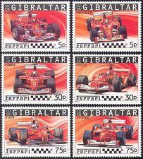 Gibraltar 2004 FERRARI/Racing/Cars/GP/F1/Grand Prix/Transport 6v set (n13549)