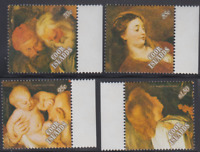 PP39 - COOK ISLANDS STAMPS 1989 PETER PAUL RUBENS PAINTINGS SG1024-7 MNH