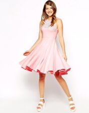 Ukulele Daisy Party Dress With Hand Sewn Embellishment in Pink UK8 EU36 RRP£170