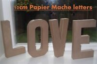 LOVE - freestanding 10cm papier mache cardboard words letters weddings valentine