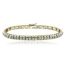 Gold Tone 1/2 Ct Diamond Studded Tennis Bracelet
