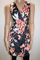 FOND Brand Black Floral Sleeveless Wrap Dress Size S #AN02