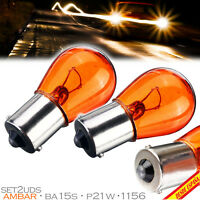 2x BOMBILLAS LAMPARAS INTERMITENTE BA15S P21W 1156 AMBAR NARANJA 382 CAR LAMP